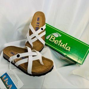 NWT Birkenstock Betula Vinja Sandals White Sz 6 US